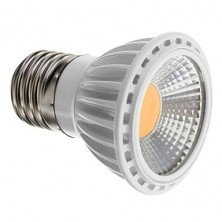 Dimmable E27 5W COB 450-480LM 2700-3500K Warm White Light LED Spot Bulb