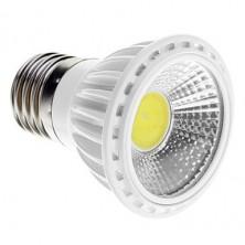 Dimmable E27 5W COB 450-480LM 6000K Cool White Light LED Spot Bulb