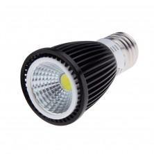 Pack of 2pcs High Power Black 12W COB LED Spotlight Bulb Lamp Halogen Incandescent Replacement, E27 Standard Screw Base