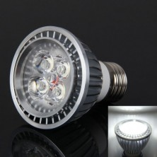 LED PAR20 Spot Bulb E27 4W 350LM 4-LED High Power Cool White-Silver(AC85-265V)