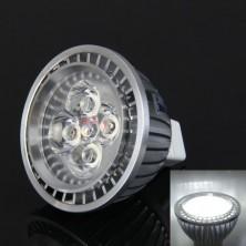 LED PAR20 Spot Bulb MR16(GU5.3) 4W 350LM 4-LED High Power Cool White-Silver(AC/DC12V)