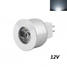 Mr11 Gu5.3 LED Spot Light 12v 110v 3w Mini LED Lamp Bulb Super Bright for Indoor Lighting (Pack of 4) (Cold White, 12v Mr11)