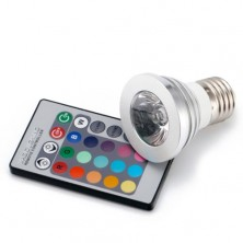 Color Changing LED Light Bulb and Remote