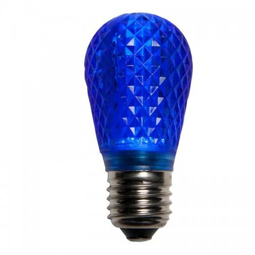 s14 led christmas lamp retrofit light bulbs e26 standard base blue pack of 25