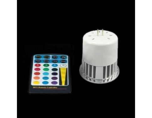 12V 5W MR16 RGB LED Spot Light Spotlight Bulb Lamp 16 Colors with Remote Controller