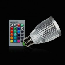 7W E27 RGB LED Spot Light Spotlight Bulb Lamp 16 Colors with Remote Controller