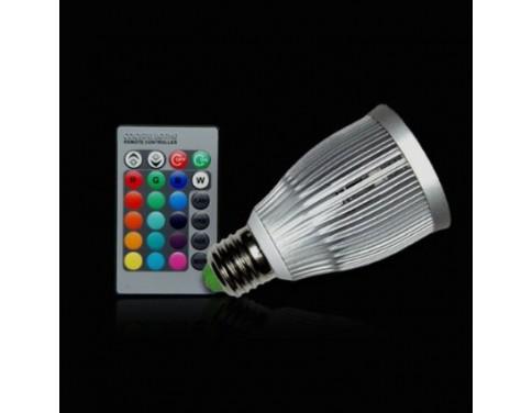 7W E27 RGB LED Spot Light Spotlight Bulb Lamp 16 Colors with Remote Controller