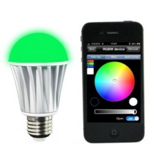 E26 E27 LED Bluetooth Light Bulb A19 RGB Color Changing