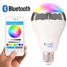 New Wireless Bluetooth 4.0 Speaker Smart LED Night Light Bulb Audio Music RGB Lamp- Smartphone Free APP Controlled- Dimmable Multicolored Colorful LED Display-one Pocket Monsters for Your Exclusive Party