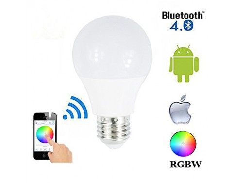 4.5W E27 RGBW Led Light Bulb Bluetooth 4.0 Smart Lighting Lamp color change Dimmable for Home Hotel AC85-265V