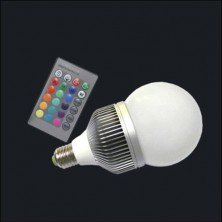 E27 10W RGB Multicolored Remote Control LED RGB Light Bulb 16 Color RGB LED Light Bulbs