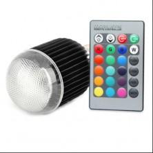 E27 9W RGB Multicolored Remote Control 16 Color RGB LED Light Bulbs