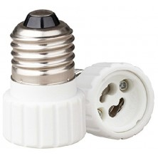 5 Pack, GU10 to E26 Bulb Adapter, Use This Adapter to Plug a GU10 (Bayonet Mount) Based Bulb Into an E26 Light Fixture, Maximum Wattage Is 75W