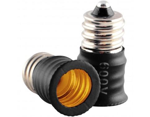 Candelabra Light Bulb Base Extension E12 Socket Extender Adapter Pack of 10