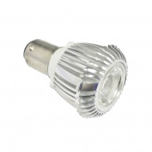 Warm White 12v 3 Watt BA15 Bayonet Base Elevator GBF Light Bulb 30 Degree