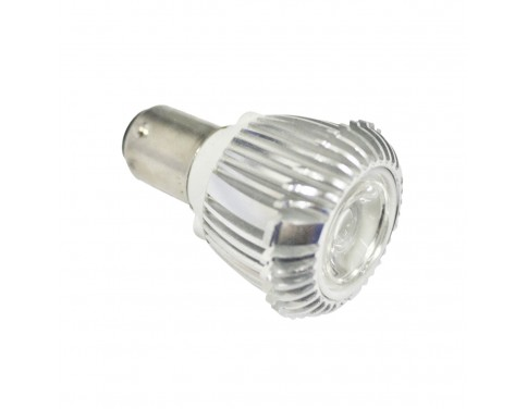 Day White 12v 3 Watt BA15 Bayonet Base Elevator GBF Light Bulb 30 Degree